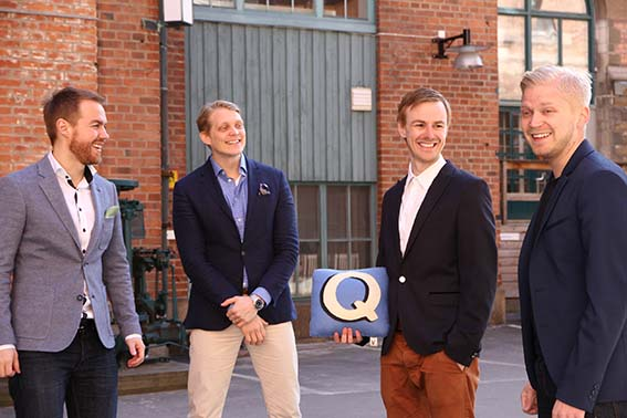 All founders FEO Media AB from left Kalle Landin - Robert Willstedt - Olle Landin - Henrik Willstedt