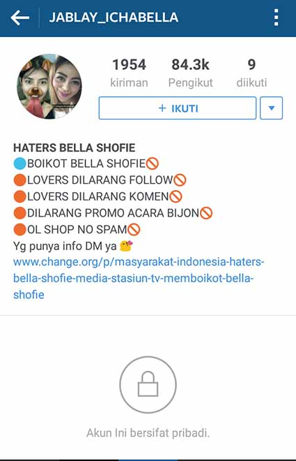 Haters Bella Shofie
