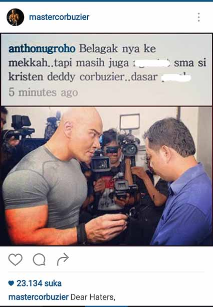 Haters Deddy Corbuzier Antho