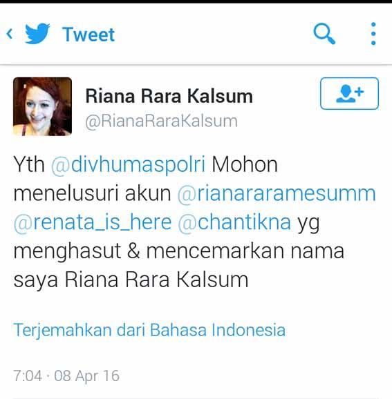 Riana Rara kalsum jawab haters