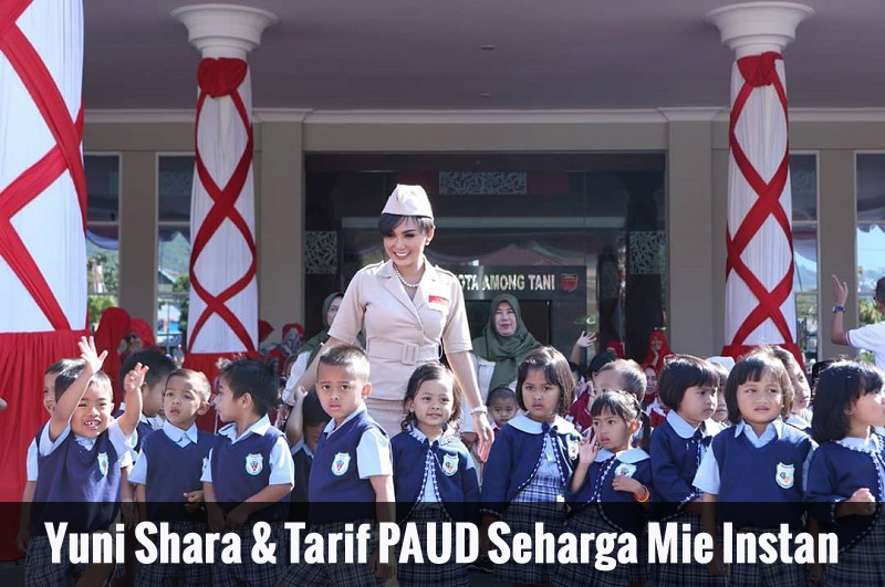 Yuni Shara Dan Tarif PAUD Seharga Mie Instan
