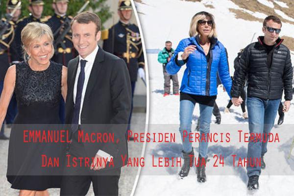 Ini Pelajaran Dari  Emmanuel Macron, Presiden Perancis Termuda Dan Istrinya Yang Lebih Tua 24 Tahun